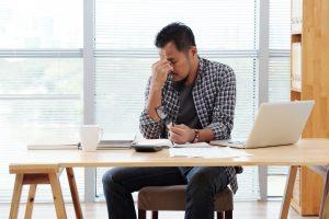 Stressed entrepreneur