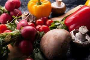 Close up image of different delicious fresh and healthy vegetabl