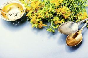 Herbal tea with hypericum